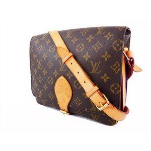 AUTH LOUIS VUITTON Cartouchiere GM Shoulder Bag